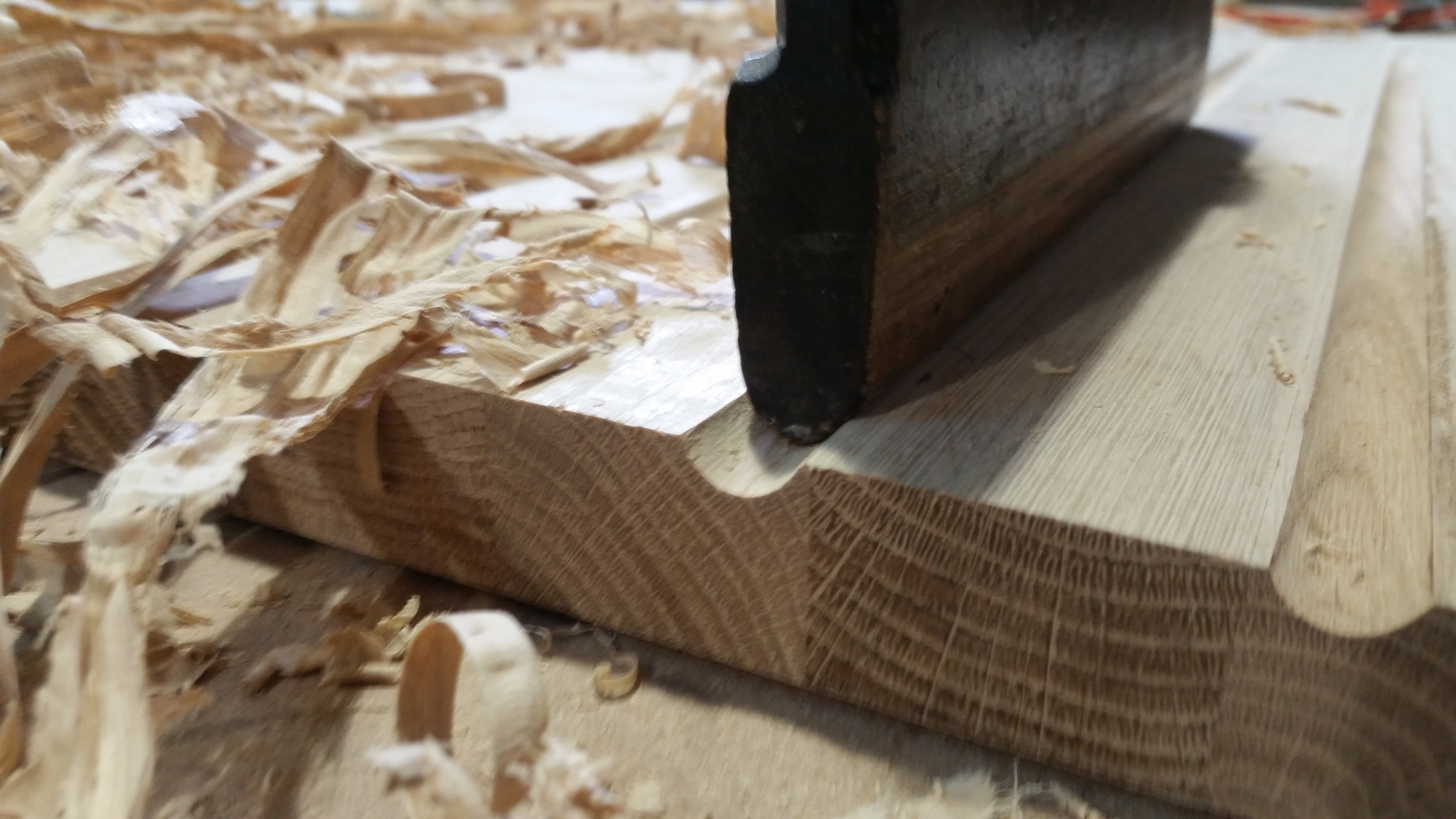 Moulding Planes to Make Worktop Drainage Grooves
