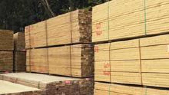 Treated construction timber.