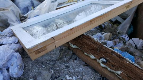 Rotten Timber Window