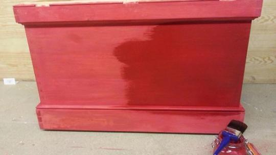 Tool Chest Milk Paint - Second Coat