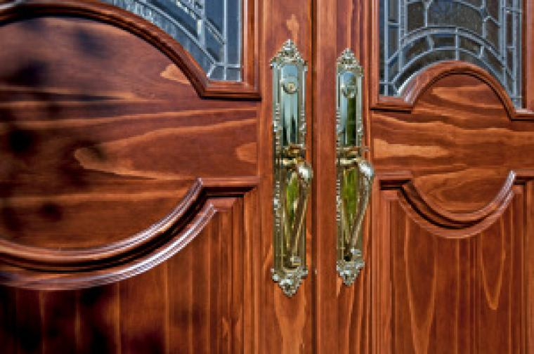 This image of an Accoya door was kindly provided by Accsys Technologies
