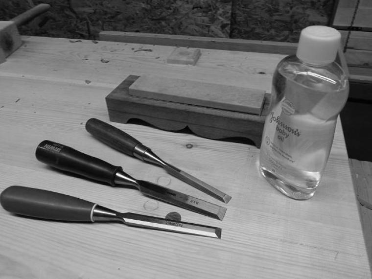 Baby Oil Sharpening