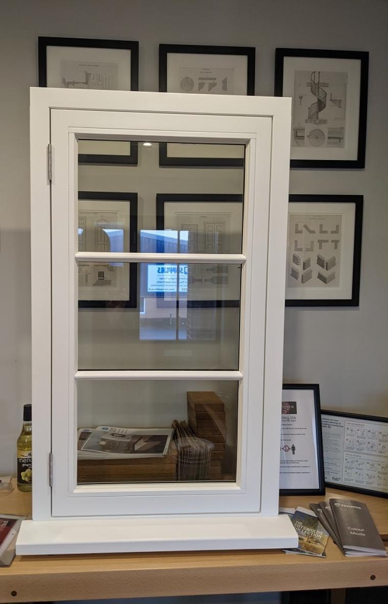 Spray Coated Dry Glaze Window