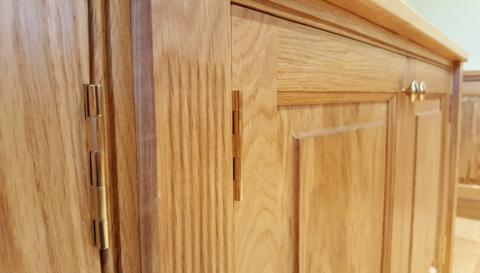 Oak Bookcase Joinery North Devon