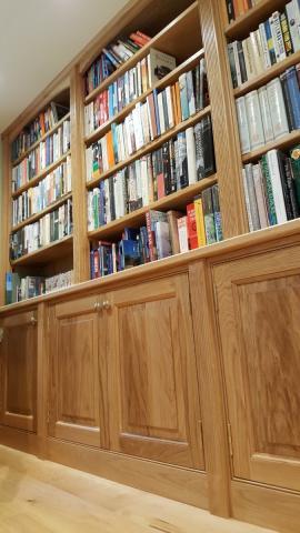 Fitted Oak Bookcase Devon