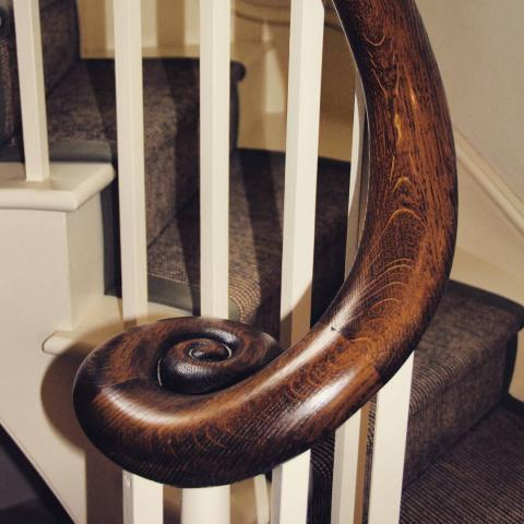 Oak Handrail stairs