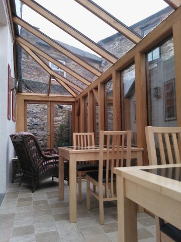 Solid oak conservatory sun room