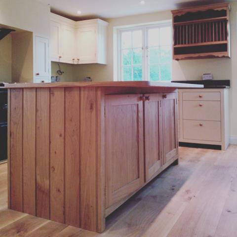 Cottage style Oak kitchen island