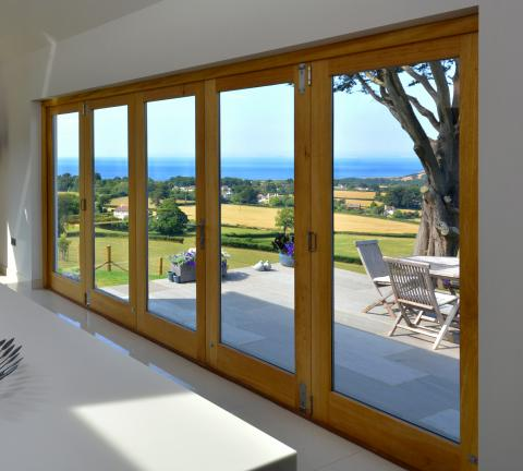 Bi fold door joinery with a view