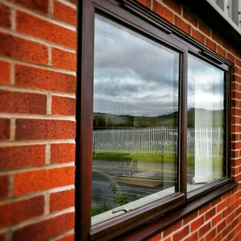 Hardwood stormproof profile double glazed window