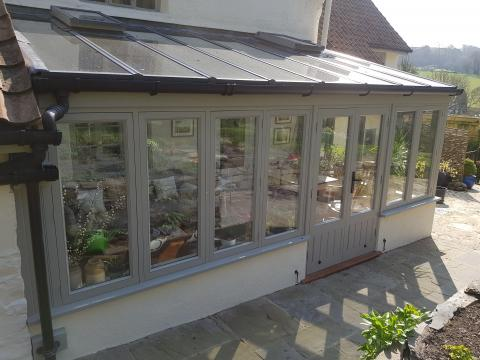 Painted Hardwood Conservatory Devon