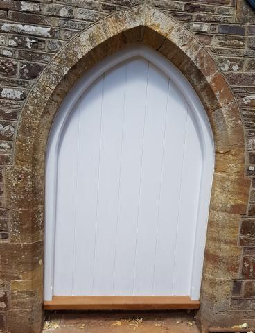 Hardwood Gothic Door