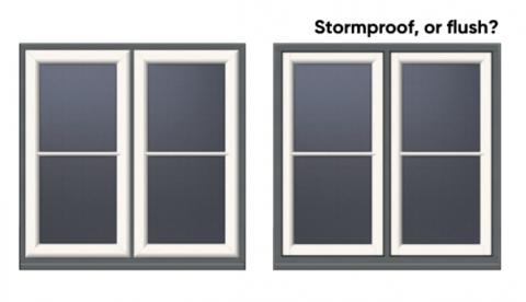 Flush Casement or Stormproof Wooden Windows