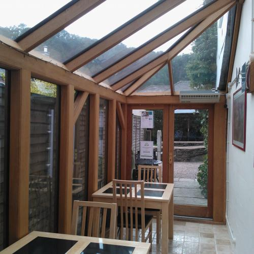 Inside Wooden Oak Conservatory