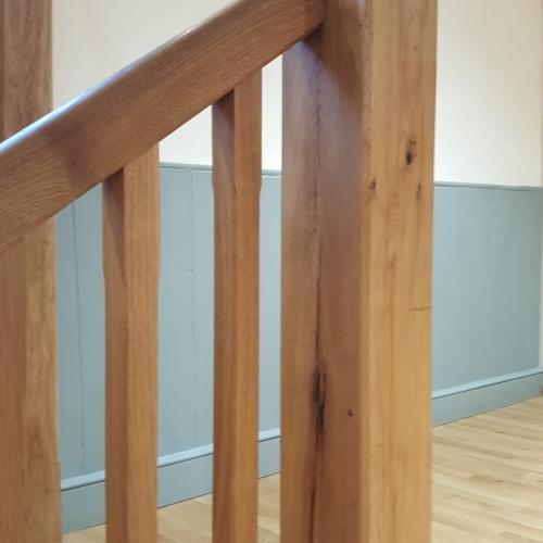 Oak Handrails and Stairs Devon