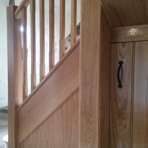 Oak Cupboard Under Stairs