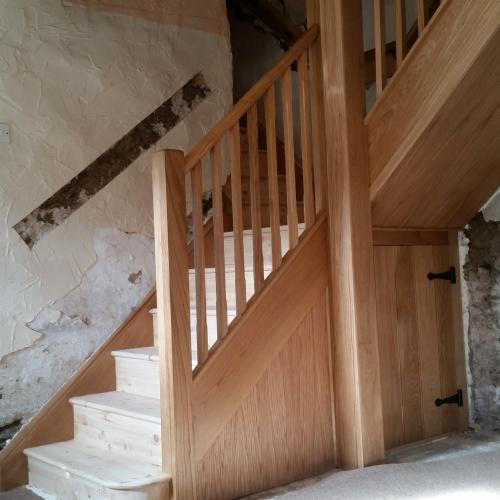 Oak Staircase North Devon