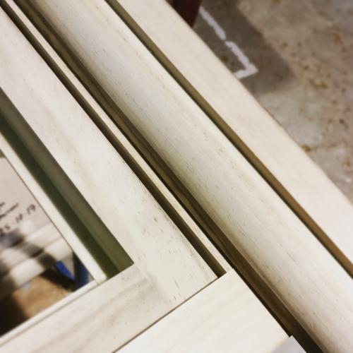 production stage of accoya windows