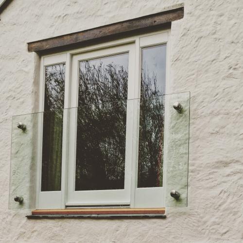 Juliet balcony door made from Oak