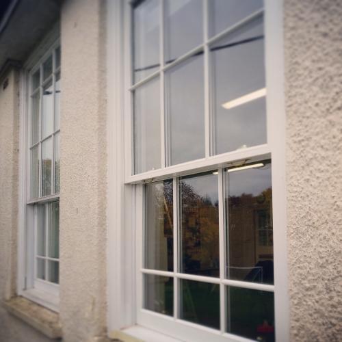 Sliding sash windows constructed from hardwood
