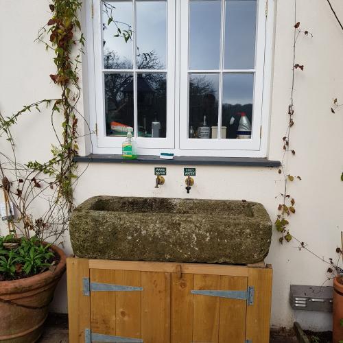 Wooden window with Pilkington Spacia