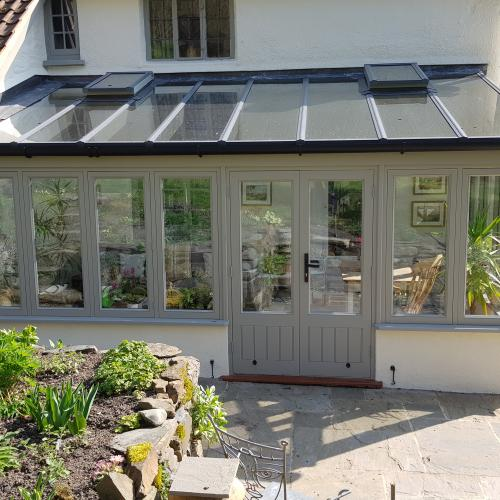 Painted Hardwood Conservatory North Devon