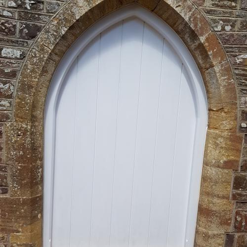 Custom Made Hardwood Gothic Door